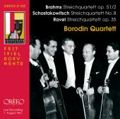 Album artwork for Borodin Quartett play Brahms, Ravel, Shostakovich