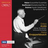 Album artwork for Weber, Beethoven & Brahms: Orchestral Works (Live)