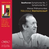 Album artwork for Beethoven Symphonie Nos. 1 and 7/Nikolaus Harnonco