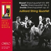 Album artwork for Juilliard String Quartet play Mozart, Dvorak & Bar