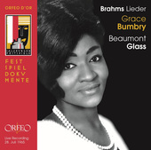 Album artwork for Brahms: Lieder / Grace Bumbry