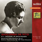 Album artwork for Berlin Recordings, 1951 & 1954 / Gioconda De Vito