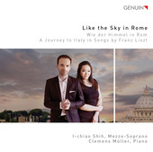 Album artwork for Liszt: Like the Sky in Rome - A Journey to Italy i