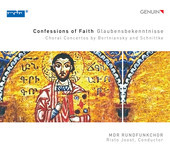 Album artwork for Confessions of Faith: Choral Concertos by Bortnian