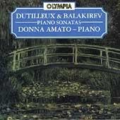 Album artwork for Piano Sonatas by Dutilleux & Balakirev / Amato
