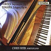 Album artwork for Chris Seed plays piano works by Vorisek & Tomasek