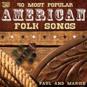 Album artwork for 40 Most Popular American Folk Songs