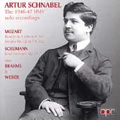 Album artwork for Artur Schnabel: The 1946-47 HMV solo recordings