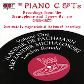 Album artwork for The Piano G&T's, Volume 1: Vladimir de Pachmann,