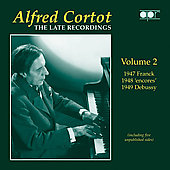 Album artwork for ALFRED CORTOT: THE LATE RECORDINGS