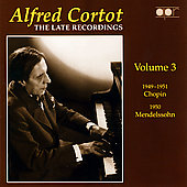 Album artwork for Alfred Cortot: Late Recordings Vol. 3