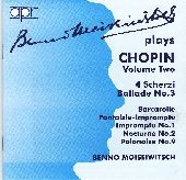Album artwork for Benno Moiseiwitsch plays Chopin, Volume Two
