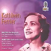 Album artwork for KATHLEEN FERRIER SINGS BRAHMS AND MAHLER