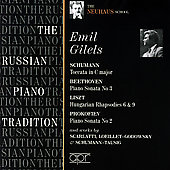 Album artwork for THE RUSSIAN PIANO TRADITION: EMIL GILELS