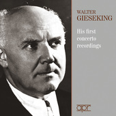 Album artwork for Walter Gieseking: His First Concerto Recordings