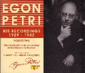 Album artwork for Egon petri: His recordings 1929-1942, Volume Two