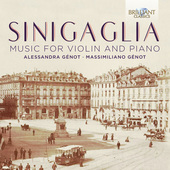 Album artwork for Sinigaglia: MUSIC FOR VIOLIN AND PIANO