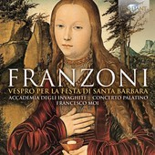 Album artwork for Franzoni: Vespro per la festa di Santa Barbara