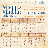 Album artwork for Johannes de Lublin Tablature: Keyboard Music from