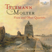 Album artwork for Telemann and Molter: Flute and Oboe Quartets