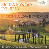 Album artwork for D'India: Musiche a una e due voci