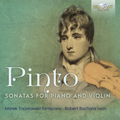 Album artwork for Pinto: Sonatas for Piano and Violin
