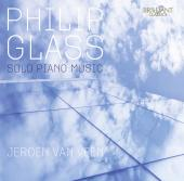 Album artwork for Glass: Solo Piano Music / van Veen