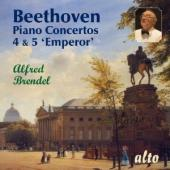 Album artwork for Beethoven Piano Concertos 4 & 5 Brendel