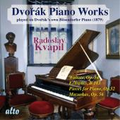 Album artwork for DVORAK: Piano Works Played on Dvorák's Own Böse