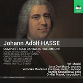 Album artwork for Hasse: Complete Solo Cantatas, Vol. 1