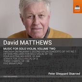 Album artwork for David Matthews: Music for Violin, Vol. 2