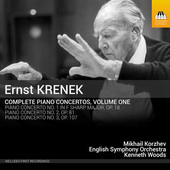 Album artwork for Krenek: Complete Piano Concertos, Vol. 1