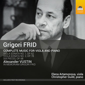 Album artwork for Frid: Complete Music for Viola & Piano