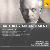 Album artwork for Bartók by Arrangement: Music for Viola
