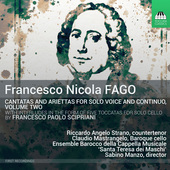 Album artwork for Fago: Cantatas for Solo Voice & Continuo, Vol. 2