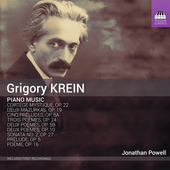 Album artwork for Krein: Piano Music