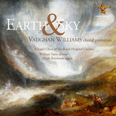 Album artwork for Earth & Sky: Vaughan Williams Choral Premières