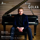 Album artwork for BRAHMS. BEETHOVEN. Piano Sonatas. Golka