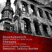 Album artwork for Shostakovich/Strauss - Baltic Chamber Orch - Leduc