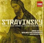 Album artwork for Stravinsky: Symphony of Psalms (Rattle)
