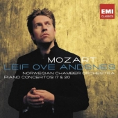Album artwork for Mozart: Piano Concertos 17 & 20 / Ove Andsnes