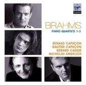 Album artwork for Brahms: Piano Quartets 1-3 / Capucons, Causse,