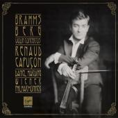 Album artwork for Brahms / Berg: Violin Concertos - Capucon