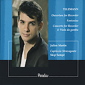 Album artwork for Telemann: Overture, Fantasia & Concerto (Julien Ma