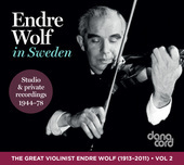 Album artwork for The Great Violinist: Endre Wolf (1944-1978)