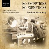 Album artwork for No Exceptions, No Exemptions - Great War Songs