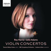 Album artwork for Harris & Adams: Violin Concertos
