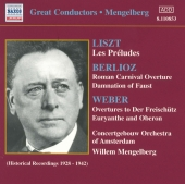 Album artwork for LISZT, BERLIOZ, WEBER