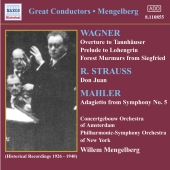 Album artwork for MENGELBERG-WAGNER/R.STRAUSS/MAHLER