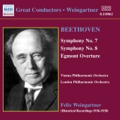 Album artwork for WEINGARTNER: BEETHOVEN SYMPHONIES NOS. 7 & 8